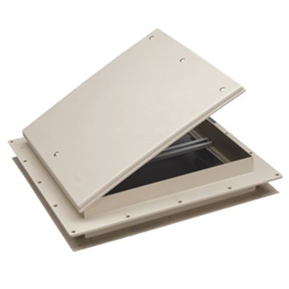 """Picture of Heng's  Colonial White 9""""x9"""" Plastic Frame Roof Vent 17511-C1G 22-0230"""