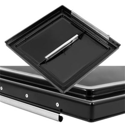 "Picture of Camco  Black Polypropylene 14"" x 14"" Ventline Style Roof Vent Lid 40177 22-0430"