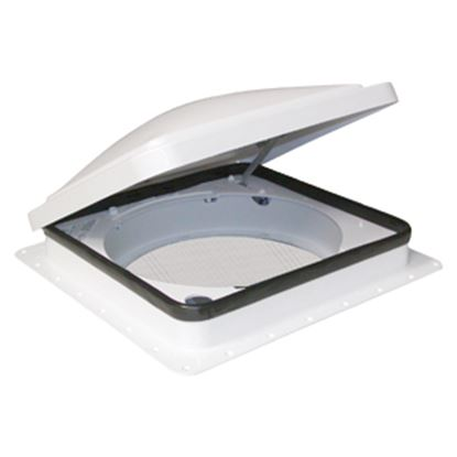 """Picture of Fan-Tastic Vent 800 White 14""""x14"""" Polyethylene Frame Roof Vent 800800 22-0450"""