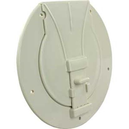 """Picture of JR Products  Colonial White 3-27/32""""RO Utility/ Awning Pole Storage Access Door S-25-14-A 22-0548"""