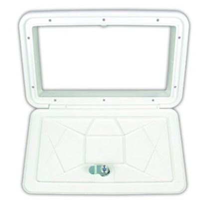 "Picture of JR Products  Polar White 11-1/16""RO Multi-Purpose Utility Hatch Access Door ZE102-A 22-0553"
