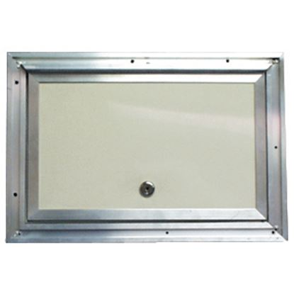 "Picture of Interstate Metal  Colonial White Anodized Aluminum 18"" X 24"" Baggage Access Door 22-0614 22-0614"