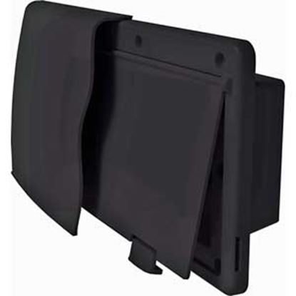 "Picture of JR Products Endura Black 12-9/16""W X 5-7/8""H X 5/8"" Flange Wall Vent 50025 22-0676"