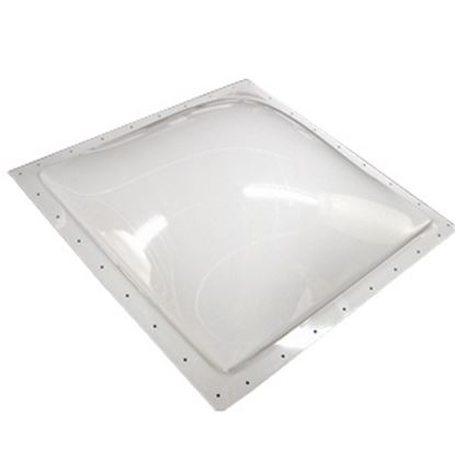 "Picture of Specialty Recreation  3-1/2""H Bubble Dome Square White Polycarbonate Skylight w/Sealant SL1414W 22-0698"