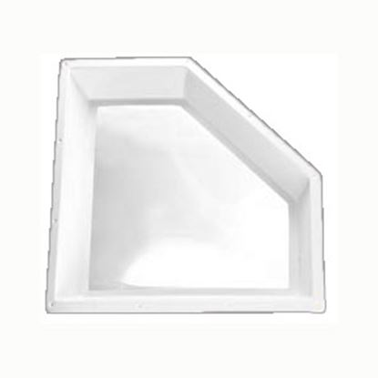 "Picture of Specialty Recreation  5""H Bubble Dome Neo Angle White PC Skylight w/32"" X 13"" Flange NSL2810W 22-0709"