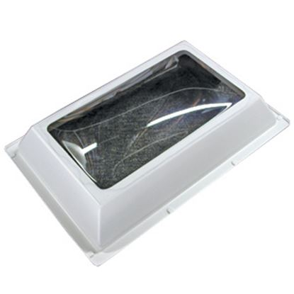 "Picture of Specialty Recreation  4""H Bubble Dome Rectangle White PC Skylight w/18.5"" X 28.5""Flange N1626 22-0716"