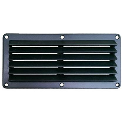 """Picture of Leisure Time  Black ABS 5""""L X 10""""W Rectangular Wall Vent DV510B 22-3552"""
