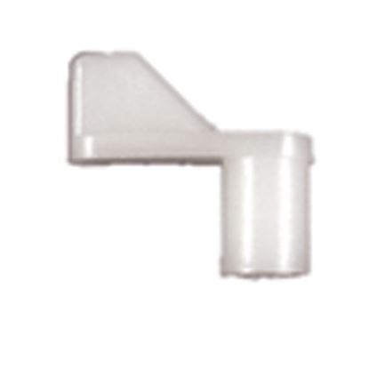 "Picture of Strybuc  1/4"" Offset Size White Nylon Window Screen Clip 496C 23-1200"