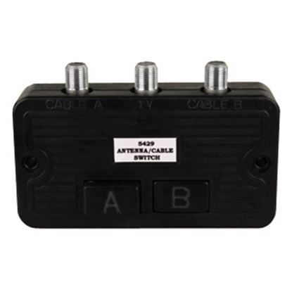 Picture of JR Products  Black 75 Ohms Input Audio/ Video Selector 47845 24-0314
