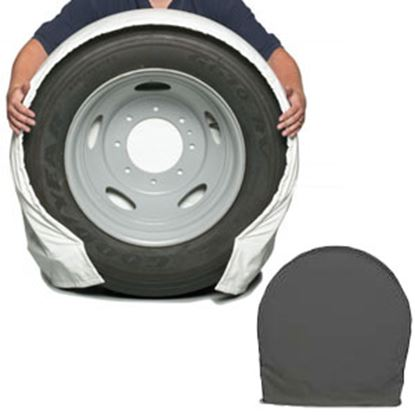 "Picture of CoverCraft SnapRing TireSavers Set of 2 Black Vinyl 27""-29"" DiaTire Covers ST7001BK 46-0048"