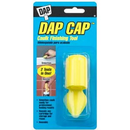 Picture of DAP Cap (TM) Yellow Plastic Caulk Finishing Tool 18570 69-0032