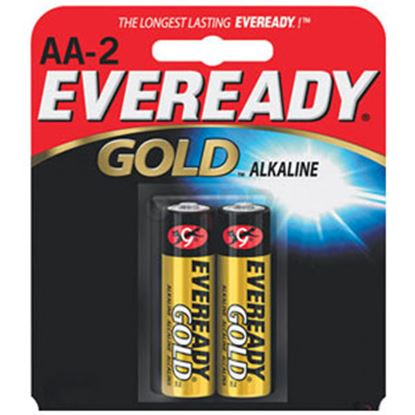 Picture of Eveready Gold (TM) 1.5V Zn-MnO2 AA Alkaline Battery A91BP-2 69-5093