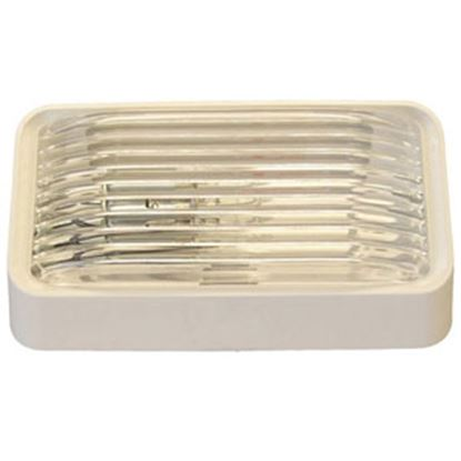 Picture of Gustafson  Clear w/Amber Lens Rectangular Porch Light w/o Switch GSAM4017 69-5182