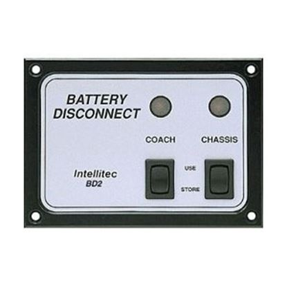Picture of IntelliTEC  Black/Silver Battery Disconnect Switch Panel w/ On/ Off Indicator 01-00066-006 69-5346