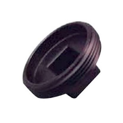 """Picture of Lasalle Bristol  Black ABS 1-1/2"""" MPT Cleanout Plug 633051 69-6016"""