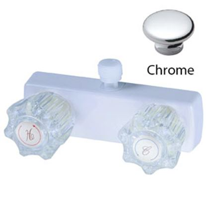 "Picture of Relaqua  4"" Chrome Plated Plastic Shower Valve w/Clear Knob AL-4031C 69-7073"