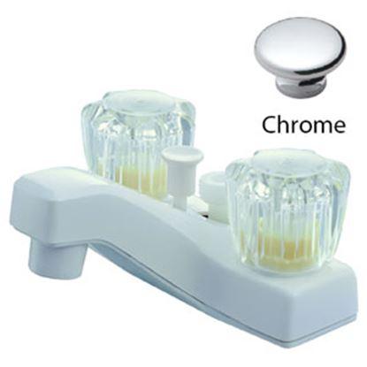 "Picture of Relaqua  Chrome w/Clear Knobs 4"" Lavatory Faucet AL-4201 69-7078"