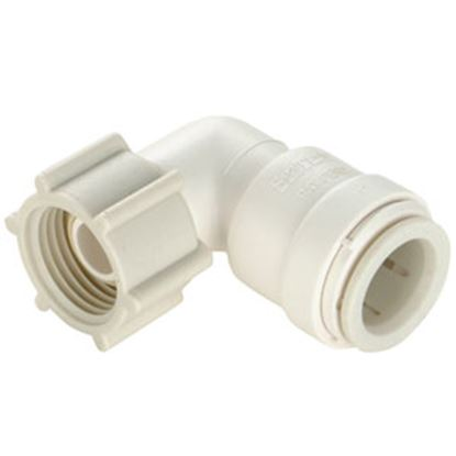 "Picture of Sea Tech 35 Series 1/2"" Fem QC Copper Tube x 3/4"" FNPS Swivel Nut Off-White Polysulfone Fresh W 013520-1012 69-7153"