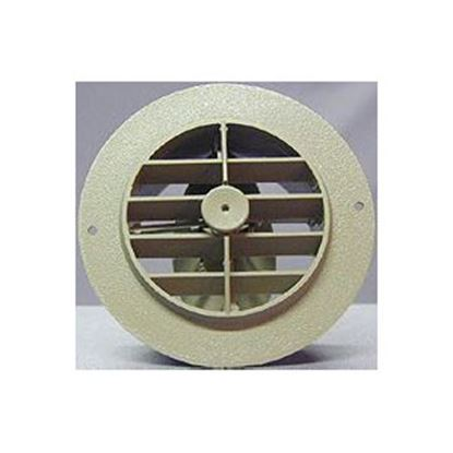 "Picture of D&W INC.  Beige 4"" Round 360 Deg Rotation Heating/ Cooling Register w/ Damper 3840RDB 69-8746"