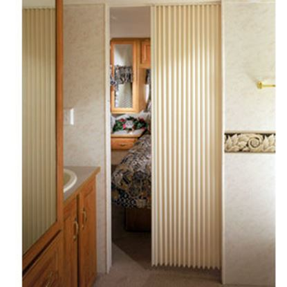"Picture of Irvine  Ivory 24""x75"" HD Fabric Pleated Folding Interior Door 2475FDIVBH 69-9188"