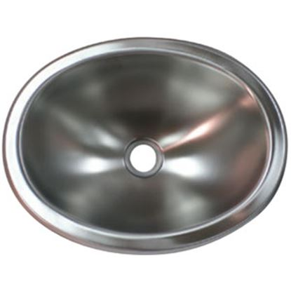 """Picture of Lasalle Bristol  13-3/4""""L X 10-1/2""""W X 5""""D Oval Satin Stainless Steel Sink 13M1186 69-9225"""