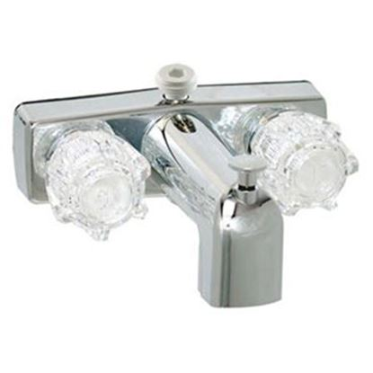 """Picture of Phoenix Faucets  Chrome w/Clear Knobs 4"""" Lavatory Faucet PF213334 70-6714"""