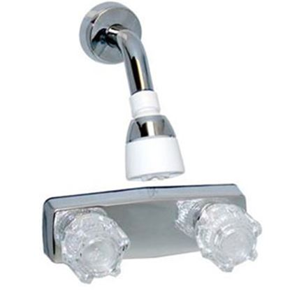 "Picture of Phoenix Faucets  4"" Polished Chrome Plated Plastic Shower Valve w/Clear Knobs PF213344 70-9450"