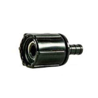 """Picture of BestPEX  3/8"""" PEX x 1/2"""" FPT Swivel Ribbed Nut Plastic Fresh Water Straight Fitting 28874 88-9288"""