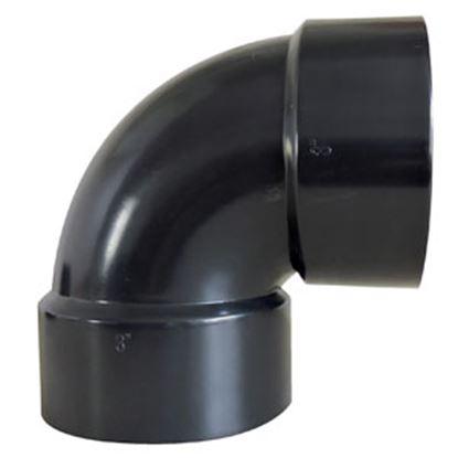 """Picture of Valterra  1-1/2"""" Hub Plastic 90Deg Short Turn Waste Valve Fitting D50-2876C 89-8350"""