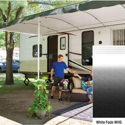 "Picture of Lippert Solera Destination White Fade 16'L X 9' 8""Ext Patio Awning w/White Solera Shield V000334839 90-2160"