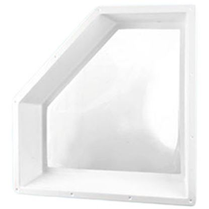 """Picture of Specialty Recreation  5""""H Bubble Dome Neo Angle White PC Skylight w/30"""" X 13.5"""" Flange NN2810 94-4063"""