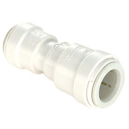 "Picture of Sea Tech 35 Series 1/2"" Fem QC Copper Tube x 3/8"" Fem QC Copper Tube Off-Wht Polysulfone Fresh 013516-1008 95-2844"