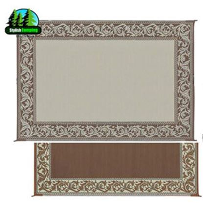 Picture of Ming's Mark  6' x 9' Brown/Beige Reversible Camping Mat RD7 96-3086